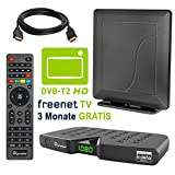 HB DIGITAL DVB-T/T2 Set: Skymaster DTR5000 DVB-T/T2 Receiver, kartenloses Irdeto-Zugangssystem fr...