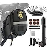 Fahrrad Satteltasche mit Fahrradpumpe und Fahrrad Reparatur Set 16-in-1 Fahrrad Multitools mit...