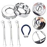PERFETSELL Fahrrad Speichenschlüssel Größe 10-15 Speichenspanner Universal Nippelspanner mit...