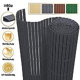 VINGO Sichtschutzmatte 90x300cm Grau, Sichtschutzzaun Sichtschutz Windschutz PVC Zaun Ideal für...