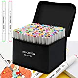 TOUCHNEW Marker Stifte Set 80 Farbige, Graffiti Stifte Fettige Mark Farben Permanent Marker Set Twin...