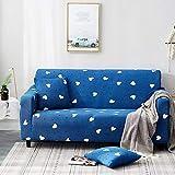 All-inclusive-Universal-Stretchstaub drei Personen 190-230cm blau blaues Herz,Sofa überwürfe...