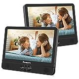 NAVISKAUTO 12' Tragbarer DVD Player für Auto Großer Kopfstütz Monitor 1024 * 600 mit Akku...