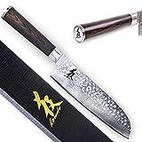 Kirosaku Premium Santoku Messer 18cm - Enorm scharfes Santoku Kochmesser aus hochwertigen...