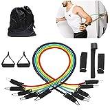 YOUMI Resistance Band 100 Lbs Einstellbare 11-Teiliges Multi-Purpose Set Fitness Bar Mit Griff Für...