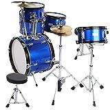 Schlagzeug mit Hocker, kindgerechte Größe Komplette Werkzeuge Flatsons Schlagzeug Gleichmäßige...