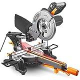 TACKLIFE Kapp Gehrungssäge mit Laser, 1500W 4500U, 210mm Sägeblatt, Schnittdaten: 300x65mm,...