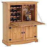 IDIMEX Weinschrank Tequila im Mexico Stil, Barschrank Hausbar Weinregal, Kiefer massiv, Mexiko Mbel,...