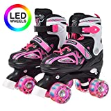 Apollo Super Quad X Pro, verstellbare LED Rollschuhe, ideal für Kinder, komfortable,...