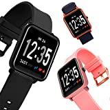 SPOERHXD Bluetooth Smart Watch 2.5D LED Gebogene Glas Schrittzähler Fitness Tracker...
