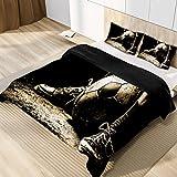 3-teiliges Bettbezug-Set, King-Size, bunte, geriffelte Sneakers, Fußball-Bettwäsche mit...