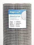 kraptrap Volierendraht Drahtgitter 16x16mm Masche 1x12m Schweigitter 4-eck Drahtzaun