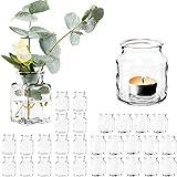 Giessle 30 teiliges Set mit [ 15x Windlichter UND 15x Vasen ] Teelichtglas, Gläser für Teelicht,...
