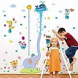 JYSPORT Wandaufkleber für Kinderzimmer, Messlatte von Tieren, Bäumen, bunte Aufkleber, entfernbar,...