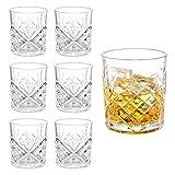 Whiskey Gläser 6er Set, Edles Kristallglas 300ml, Perfekt für Zuhause, Restaurants und Partys,...
