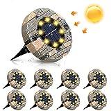 Solarleuchten, GLIME Solar Bodenleuchte 8er Set Gartenleuchte für Außen mit 8 LEDs, IP65...