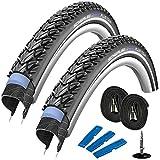 Schwalbe Marathon Plus Tour 28' (42-622) 2 Stück, Fahrradreifen Set für Trekking- Crossbike + 2...