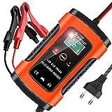 NWOUIIAY Batterie Ladegerät Auto 6A/12V Autobatterie Ladegeräte Intelligentes Erhaltungsladegerät...