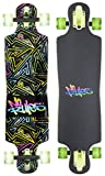 authentic sports & toys GmbH Unisex Abec 7, No Rules Neon, mit Leuchtrollen Longboard, Bunt,...