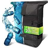 invilus ® - Rolltop Rucksack Damen und Herren aus Recycelten Plastikflaschen | Rucksack Uni |...