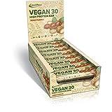 IronMaxx Vegan 30 High Protein Bar, 24 x 35 g Riegel (Erdnuss)