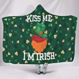RQPPY St. Patrick's Day (3) Flanell Fleecedecke Super Soft Bettcouch Decke White 130x150cm