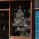 display08 Wandaufkleber/Fensteraufkleber, Weihnachtsbaum, Schneeflocke, Rentier Multi