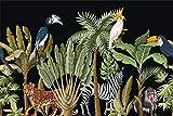 Muralo Vlies Fototapete 460 x 300 Natur Wald Dschungel Tapete Pflanzen Bäume Palmen Monstera...