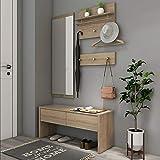 Style home 4tlg. Garderobenset Flurgarderobe Wandgarderobe Holz Komplettgarderobe-Set, inkl....