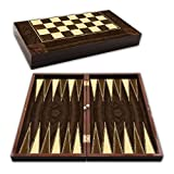 ZHQHYQHHX Spezielle Backgammon Walnussholz Schach Kontrolleure TRAFTS Travel Games Große Set Family...
