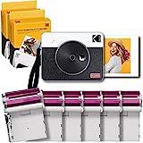 Kodak C300R Mini Shot Combo 3 Retro, 76x76 mm, Sofortbildkamera & Drucker + 68 Blatt, Bluetooth, 6...