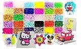 Bügelperlen mit Stiftplatten-10.000 Stück in 36 Farben(6 leuchten im Dunkeln) 5 Steckplatte+89...