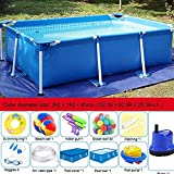 PP Rechteckige Familie Schwimmen Planschbecken 260  160  65 cm Easy Set Pool Ohne Filter...
