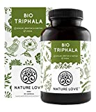 NATURE LOVE® Bio Triphala - Hochdosiert mit 500mg je Kapsel - 180 Kapseln - Hochwertiger Rohstoff...