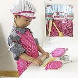 Kinder Koch-Set, DIY Kochen und Backen-Set, Spielzeug-Set, Schürze Handschuhe Hut Kochgeschirr...