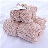 WERTY Schnelltrocknende Mikrofaser Handtuch Set Bade Gesicht Handtuch Wasser Absorbent Ananas...