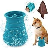 Idepet Hundepfotenreiniger, tragbare Haustier-Reinigungsbürste mit Handtuch,...