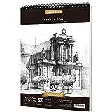 PENCILMARCH Spiralgebundener Skizzenblock,Sketchbook, A3 180 g/m² 50 Blätter. Zeichenpapier für...