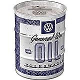 Nostalgic-Art Retro Ölfass-Spardose Volkswagen General Use Oil – Geschenk-Idee für VW Bus Fans,...