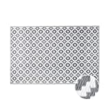 Butlers Colour Clash Outdoor Teppich Mosaik 180x120 cm in Schwarz-Wei - Flachgewebe Teppich fr...