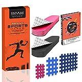 ENVAHI® 20 Kinesiologie Tape & 100 Crosstapes Gitterpflaster Set inkl. E-Book für optimale Nutzung...