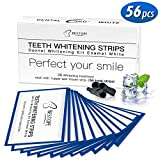 BESTOPE 56pcs White Stripes Zahnaufhellung Bleaching Set für Weiße Zähne mit No Slip Technology...