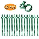 Lifreer 15 Stück Pflanzenbäumchen 24,3 cm Gartenbäume Stützen verstellbare Gurte für Sträucher...