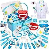 Buyger 35 Teile Rollenspiel Spielzeug Arztkoffer Medizinisches Doktor Arztkittel Geschenke für...