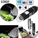 WHYTT Compound Mikroskop USB WiFi Mikroskop für Kinder Digitalkamera 1000x Vergrößerung mit 8...