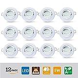 LAMPAOUS LED 5W Einbauleuchte Einbaustrahler Licht 400lm schwenkbar Einbaustrahler warmweiß 3000K...
