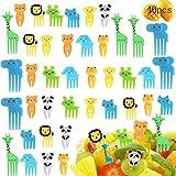 MEISHANG 40pcs Obst Gabel,Tiere Zahnstocher,Cartoon Kinder Obst Gabel,Zahnstocher Party...