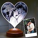 Fotogeschenk Valentinstag Geschenke Lampe Personalisierbar mit eigenem Foto und Text in 3D Bilder...