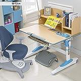 Kinder Lernen Tisch Und Stuhl Gesetzt Höhenverstellbarer Desktop 0-40 ° Neigung Mit Schublade Und...
