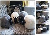 Kuschelkissen Schaf (Weiß) Kuschel Kissen Plüsch Tier Deko Dekokissen Plüschtier